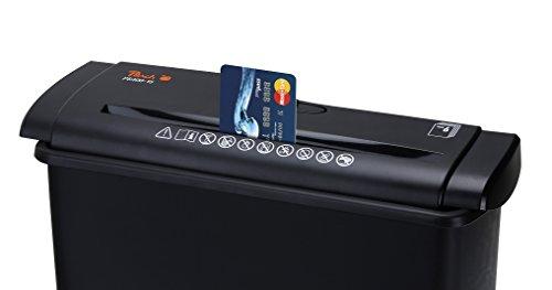 Peach PS400-15 Streifenschnitt Aktenvernichter | 6 Blatt | 7 Liter | 6mm Streifenbreite (P-2)| Multitalent für Zuhause | schreddert Papier und Kreditkarten - 4
