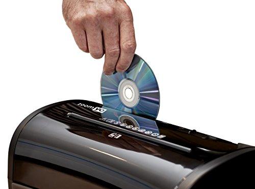 zoomyo PBS 14 Aktenvernichter | TESTSIEGER Haus & Garten 2.2017* | Inkl. Auffangbehälter | Bis zu 10 Blatt | Sicherheitsstufe 4 - Partikel/Kreuzschnitt für Papier, CDs, Kreditkarten | Schwarz - 6