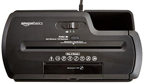 AmazonBasics Aktenvernichter, 8 Blatt, Streifenschnitt, CD-Schredder - 3