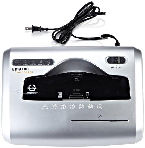 AmazonBasics Aktenvernichter, 10-12 Blatt, Kreuzschnitt, CD-Schredder - 3