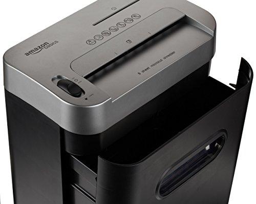 AmazonBasics Aktenvernichter, 7-8-Blatt, Partikelschnitt, mit herausziehbarem Auffangbehälter für Papier/CDs/Kreditkarten - 4