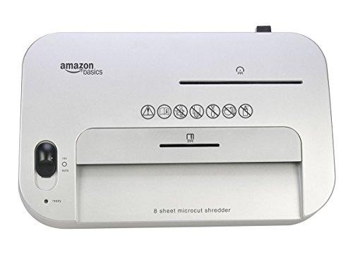 AmazonBasics Aktenvernichter, 7-8-Blatt, Partikelschnitt, mit herausziehbarem Auffangbehälter für Papier/CDs/Kreditkarten - 5