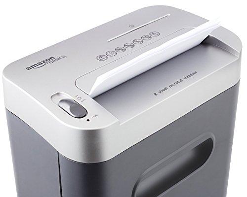 AmazonBasics Aktenvernichter, 7-8-Blatt, Partikelschnitt, mit herausziehbarem Auffangbehälter für Papier/CDs/Kreditkarten - 6