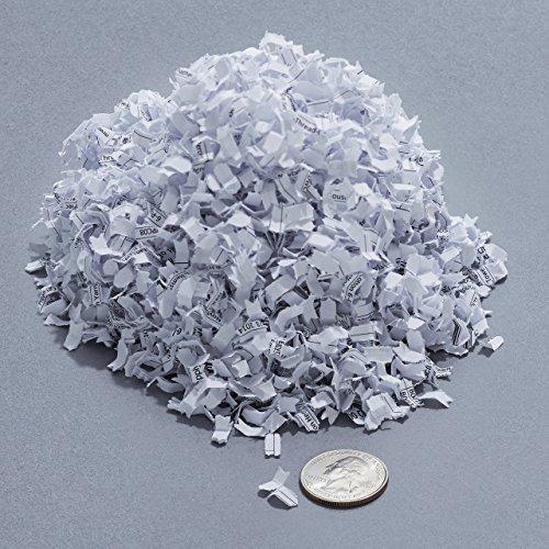 AmazonBasics Aktenvernichter, 7-8-Blatt, Partikelschnitt, mit herausziehbarem Auffangbehälter für Papier/CDs/Kreditkarten - 10