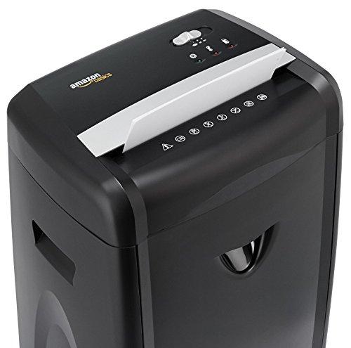AmazonBasics - Hochsicherheits-Partikelschnitt-Schredder für bis zu 12 Blätter, mit herausnehmbarem Auffangbehälter, für Papier, CDs und Plastikkarten - 2